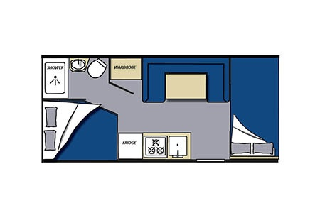 Floor plan - Meridian RV, C21-22 Medium