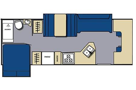 Floor plan - Meridian RV, C28-32 XLarge