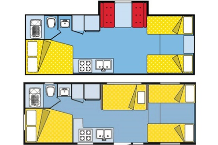 Floor plan - Westcoast Mountain Campers, Midi Motorhome MH-B