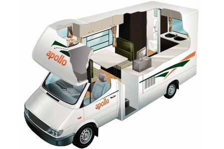 Floor plan - Apollo Motorhome Holidays, Euro Camper