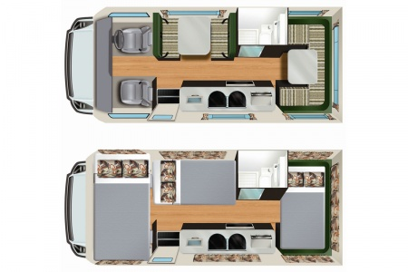 Floor plan - Apollo Motorhome Holidays, Euro Deluxe