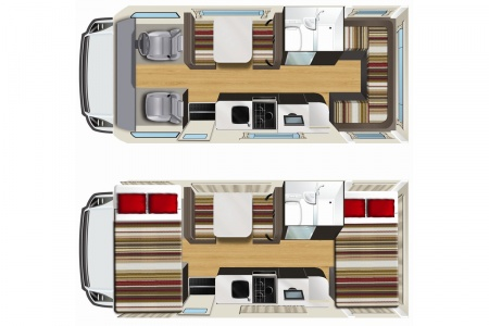 Floor plan - Apollo Motorhome Holidays, Euro Star Automatic