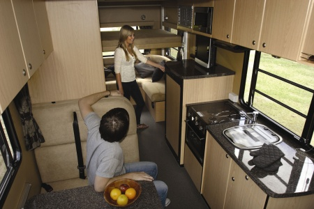 Interior view - Apollo Motorhome Holidays, Euro Star