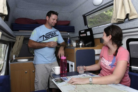 Interior view - Apollo Motorhome Holidays, Hitop Camper