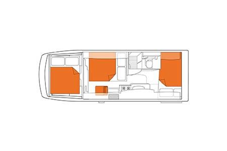 Floor plan - Britz, Frontier Motorhome
