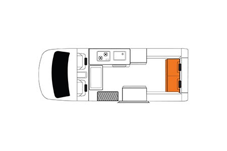 Floor plan - Britz, Hitop Camper