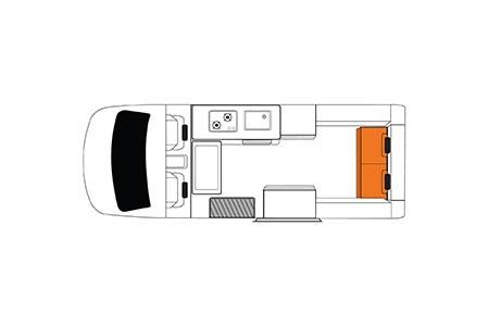 Floor plan - Britz, Voyager Camper