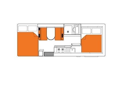 Floor plan - Britz, Vista Motorhome