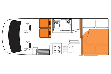 Grundriss Britz Discovery Motorhome
