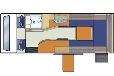 Floor plan - Britz, Venturer Camper