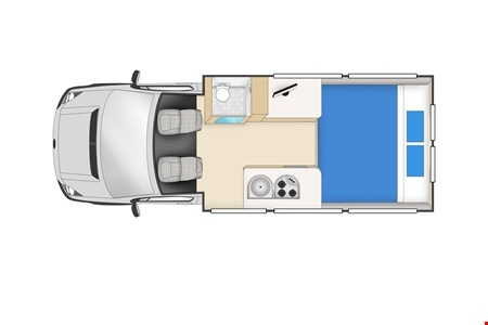 Floor plan - Cheapa Campa, Cheapa 2-Berth
