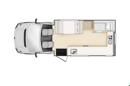 Floor plan - Cheapa Campa, Cheapa 4-Berth