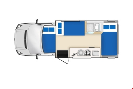 Floor plan - Cheapa Campa, Cheapa 6-Berth