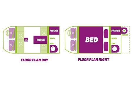 Floor plan - JUCY Rentals, Cabana