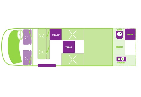 Floor plan - JUCY Rentals, Compass