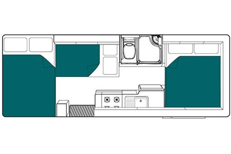 Floor plan - Maui, Platinum 6 River