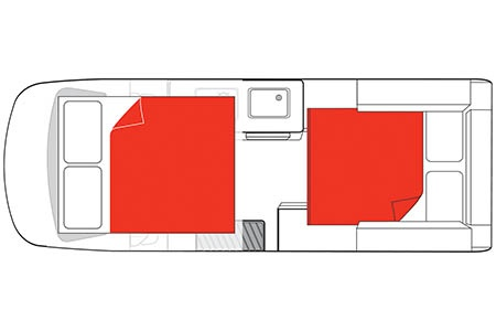 Floor plan - Mighty Campers, Double Down