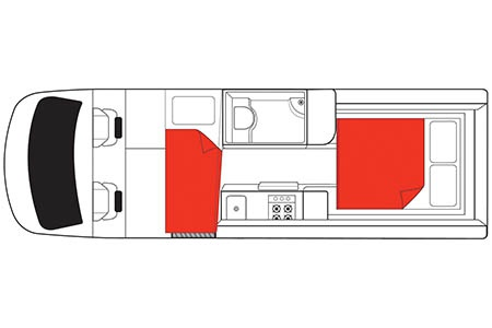 Floor plan - Mighty Campers, Deuce Plus