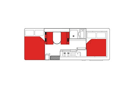 Floor plan - Mighty Campers, Big Six