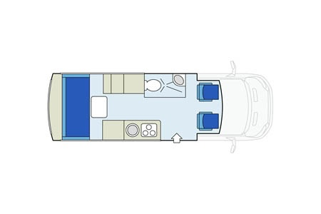 Floor plan - Star RV, Van Tourer V20