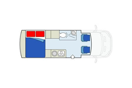 Grundriss Apollo Motorhome Holidays Van Tourer