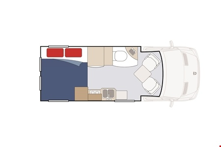 Floor plan - Apollo Motorhome Holidays, Van Tourer