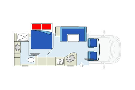 Floor plan - Apollo Motorhome Holidays, Eclipse Camper