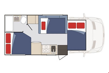 Floor plan - Apollo Motorhome Holidays, Pioneer