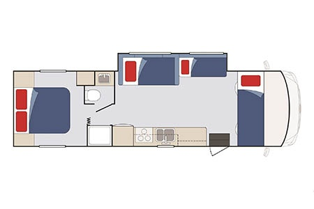 Floor plan - Apollo Motorhome Holidays, Elite Traveller