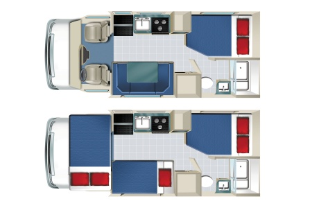 Floor plan - Apollo Motorhome Holidays, Pioneer (2017)