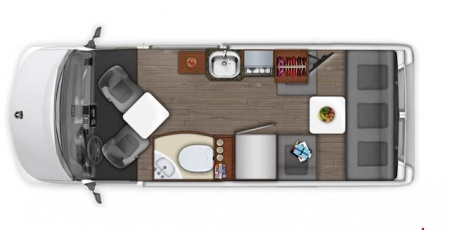 Floor plan - Apollo Motorhome Holidays, Van Tourer V20
