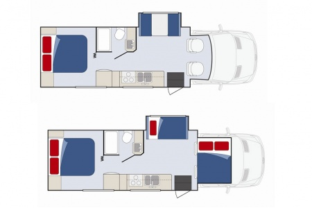 Floor plan - Apollo Motorhome Holidays, Sunrise Escape