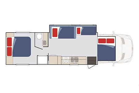 Floor plan - Apollo Motorhome Holidays, US Wanderer