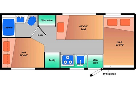 Floor plan - Best Time RV, CE24 (2020/21)