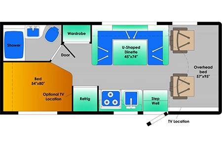 Floor plan - Best Time RV, E23 (2019/20)