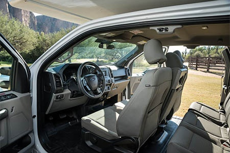 Interior view - Cruise Canada, T17 Truck Camper