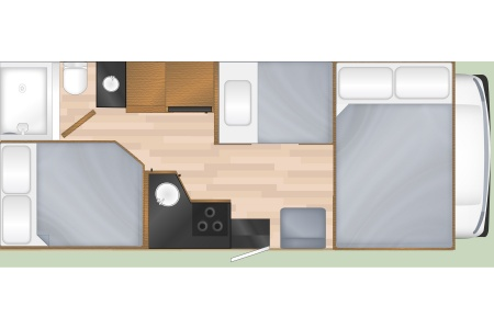 Floor plan - Cruise America, C25