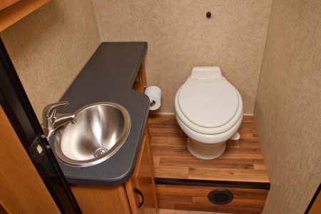 hand basin and toilet