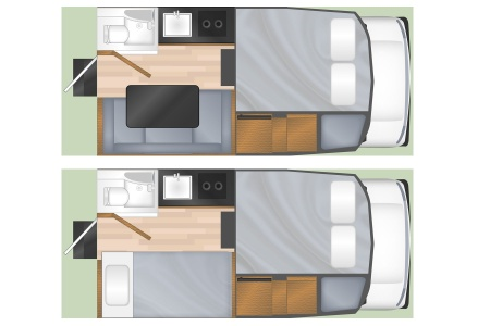 Floor plan - Cruise America, T17
