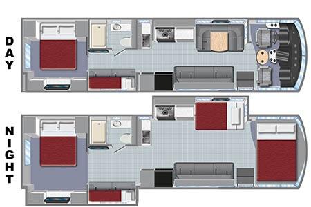 Floor plan - El Monte RV Rentals, AF33