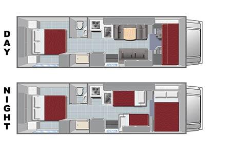 Floor plan - El Monte RV Rentals, C28