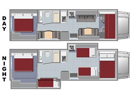 Floor plan - El Monte RV Rentals, FS31