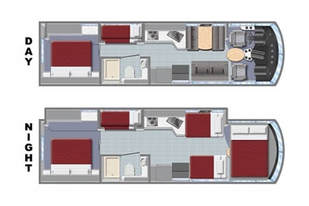 Floor plan - El Monte RV Rentals, AF34