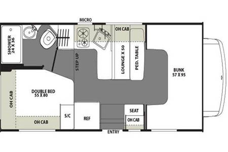 Floor plan - Go North, MH 19 Silver (2014-2015)