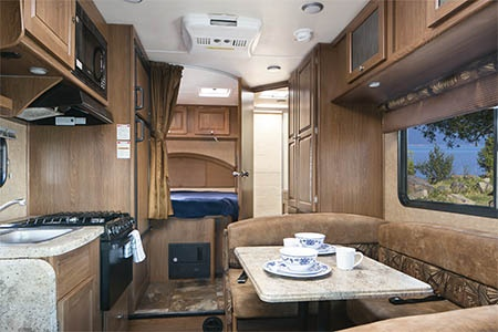 Interior view - Mighty Campers, Motorhome M22