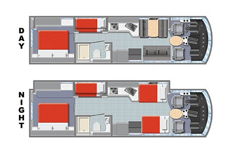 Floor plan - Mighty Campers, Motorhome MA34