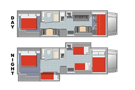 Floor plan - Mighty Campers, Motorhome MS31