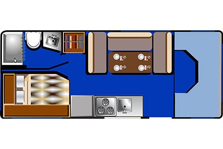 Floor plan - Road Bear RV, C22-24