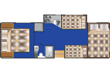 Floor plan - Road Bear RV, C28-30S