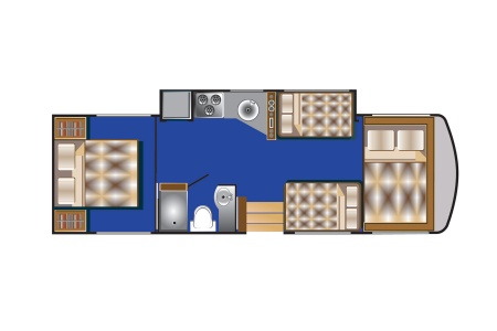 Floor plan - Road Bear RV, A30-32S